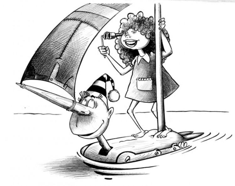 Малюнок  про буратіно