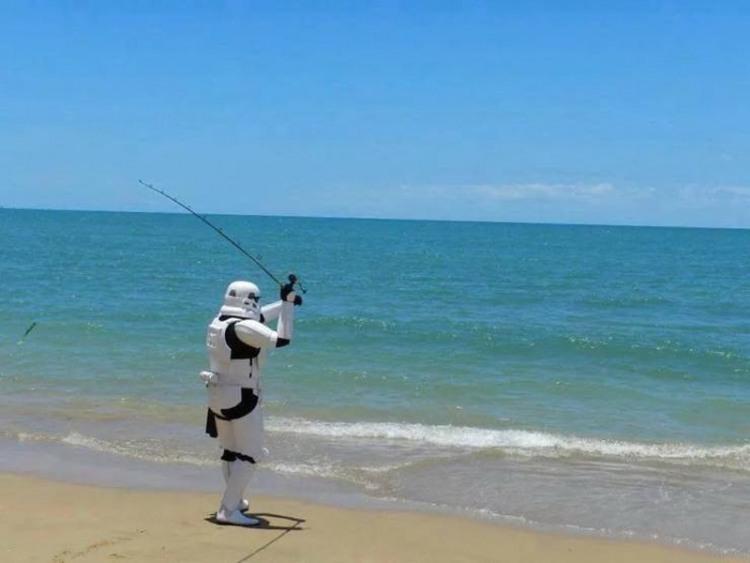 Фото прикол  про зоряні війни та рибалок