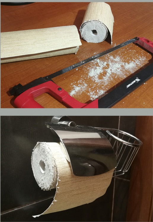 Фото прикол  про наждачку та туалетний папір