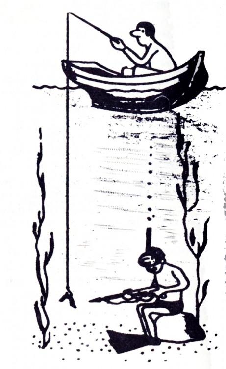 Малюнок  про риболовлю, водолазів журнал перець