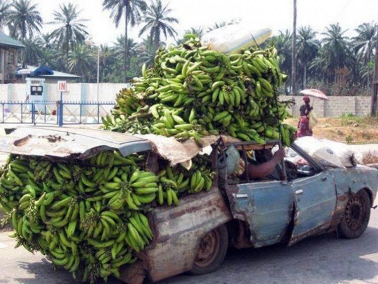 Фото прикол  про банан та автомобілі
