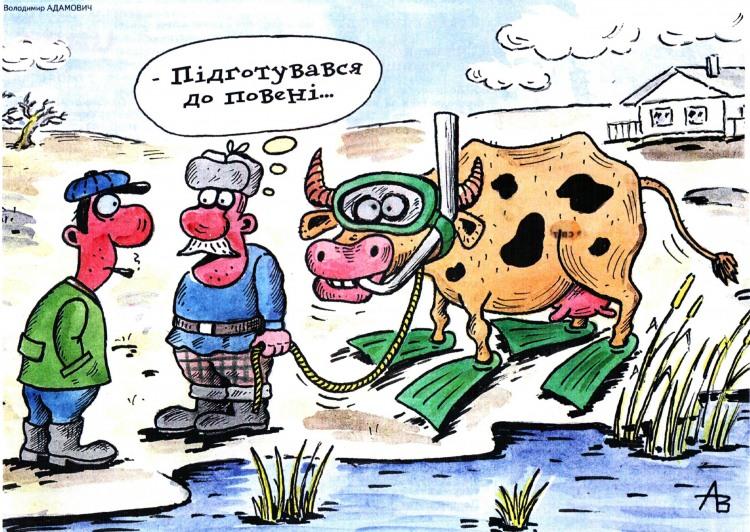 Малюнок  про корову, повінь журнал перець