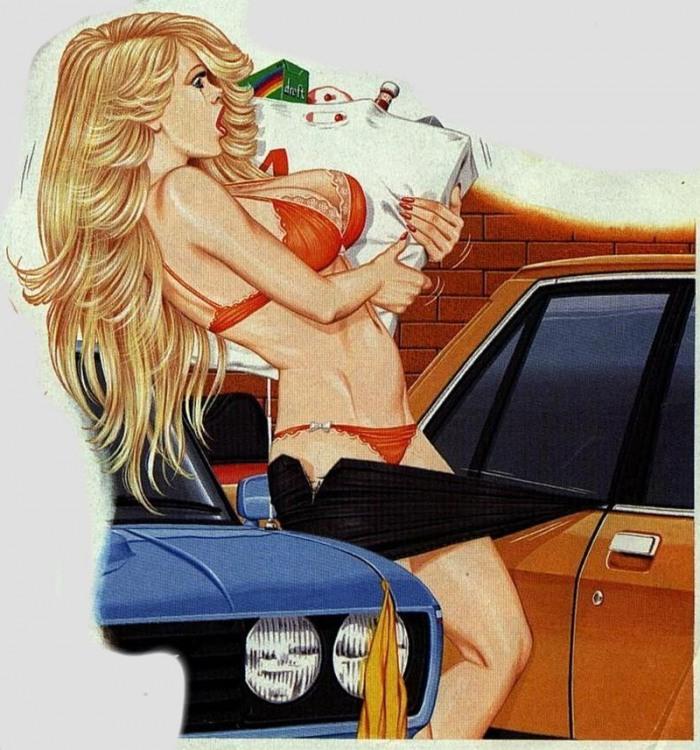 Малюнок  про дівчат та еротику