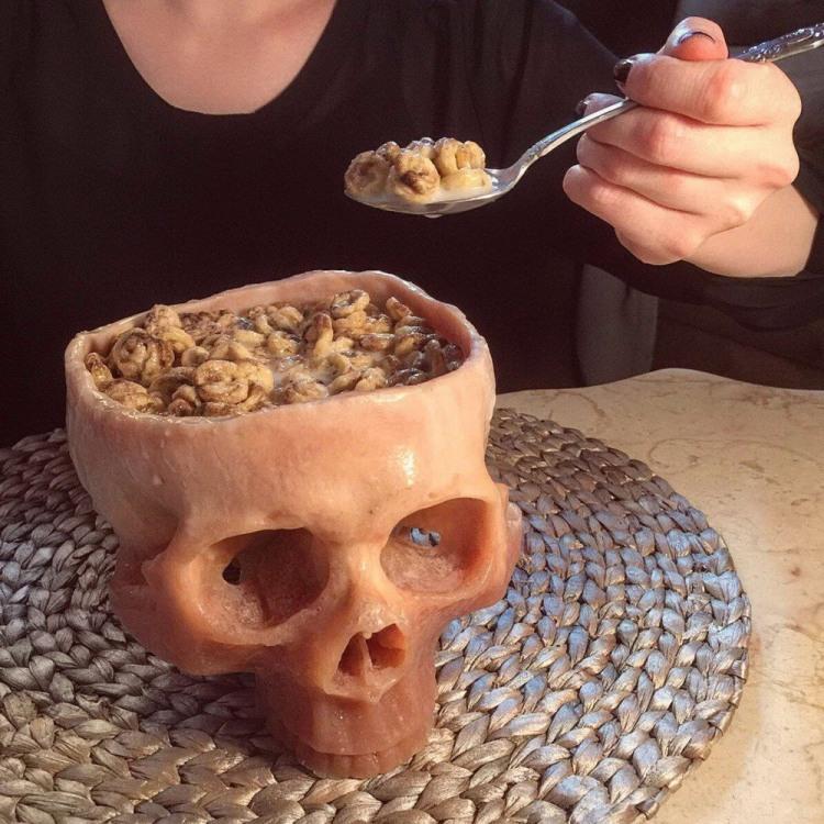 Фото прикол  про череп, їжу чорний