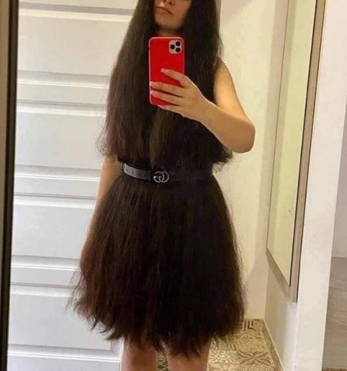 Фото прикол  про дівчат, селфі та волосся