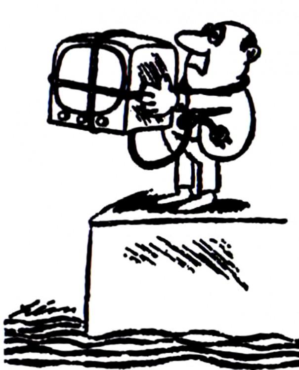 Малюнок  про телевізор, самогубство журнал перець