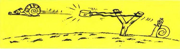 Малюнок  про равлика, рогатки журнал перець