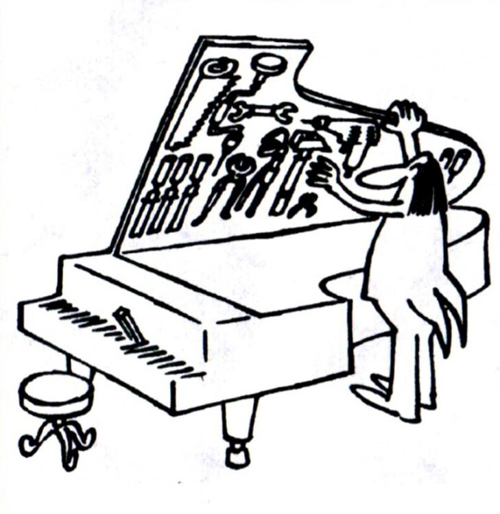Малюнок  про інструменти, рояль журнал перець