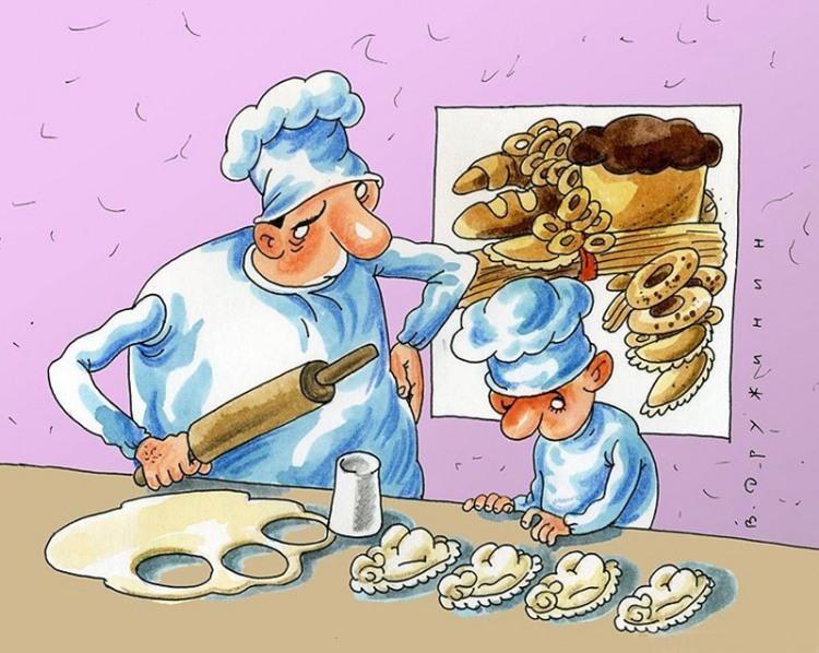 Малюнок  про кухарів та пельмені