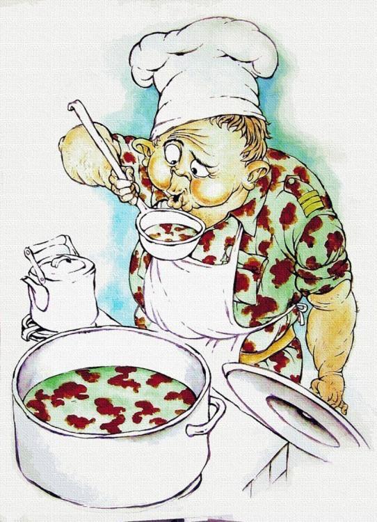 Малюнок  про кухарів та військових