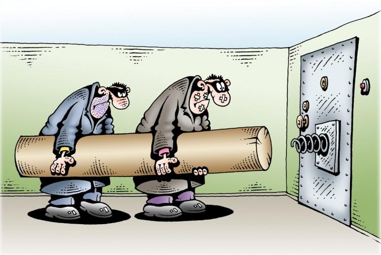 Малюнок  про колоду та пограбування