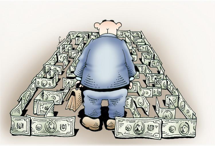 Малюнок  про лабіринт та гроші