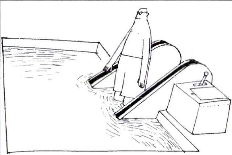 Малюнок  про ескалатор, басейн журнал перець