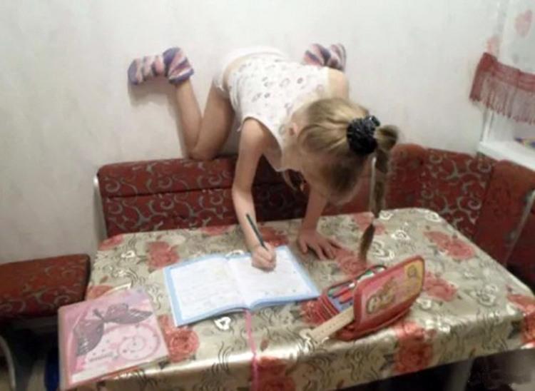 Фото прикол  про дітей та домашню роботу