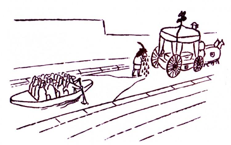 Малюнок  про похорон, плач, чорний журнал перець