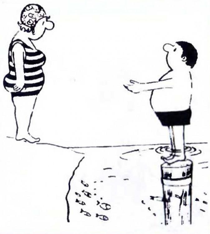 Малюнок  про чоловіка, дружину, цинічний, чорний журнал перець