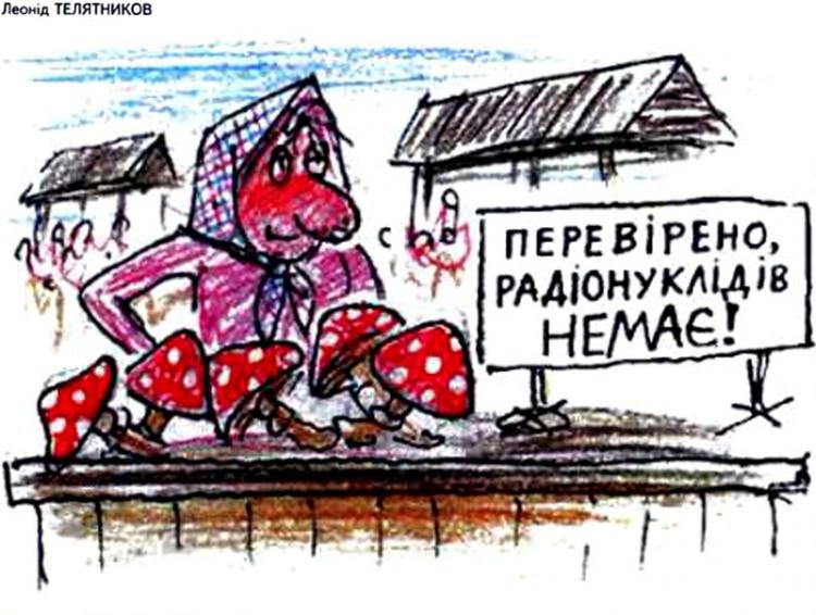 Малюнок  про гриби, ринок, чорний журнал перець