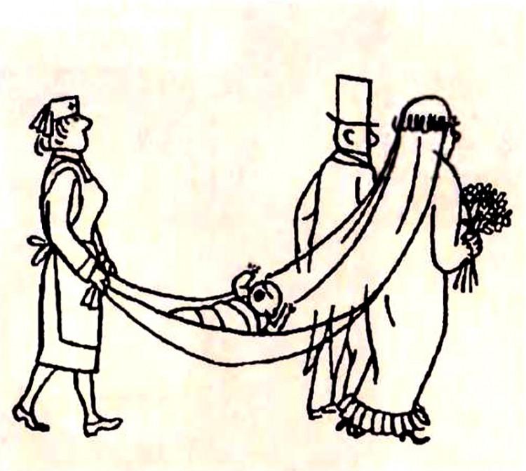 Малюнок  про одруження, дітей журнал перець