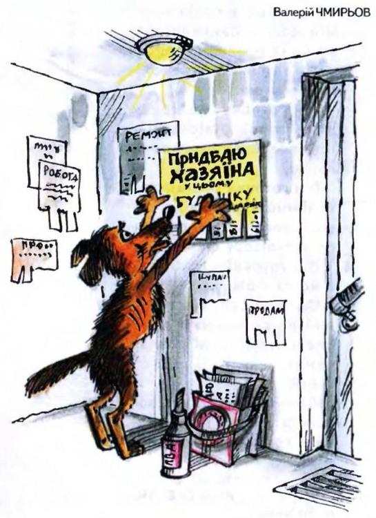 Малюнок  про собак, оголошення журнал перець