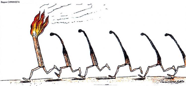 Малюнок  про сірники журнал перець