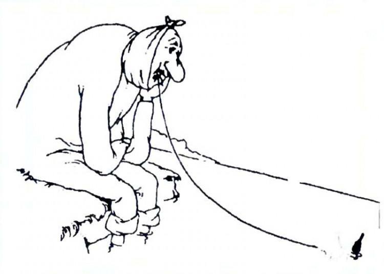 Малюнок  про зуби, риболовлю, чорний журнал перець