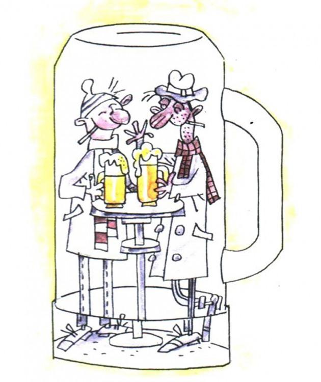 Малюнок  про п'яниць
