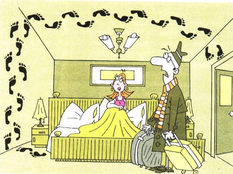Малюнок  про чоловіка, дружину, сліди та коханців