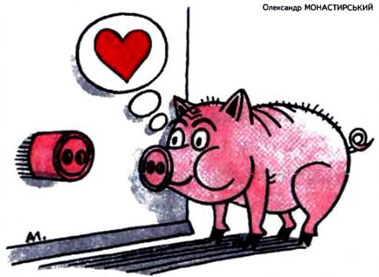 Малюнок  про розетки, свиней журнал перець