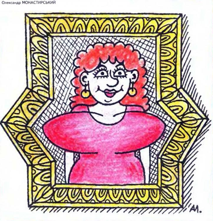 Малюнок  про жіночі груди, картини журнал перець