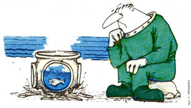Малюнок  про водолазів, приготування їжі, рибу журнал перець