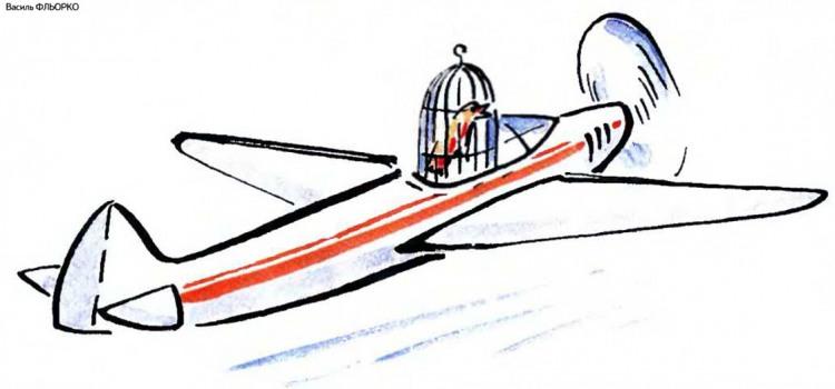 Малюнок  про птахів, клітку, літаки журнал перець