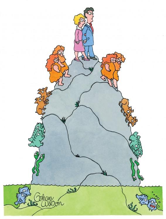 Малюнок  про еволюцію та людей
