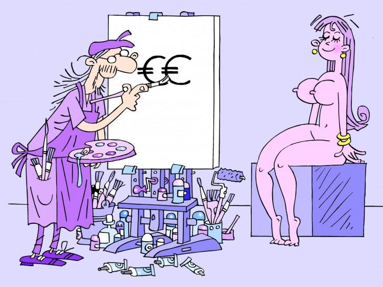Малюнок  про художників та еротику