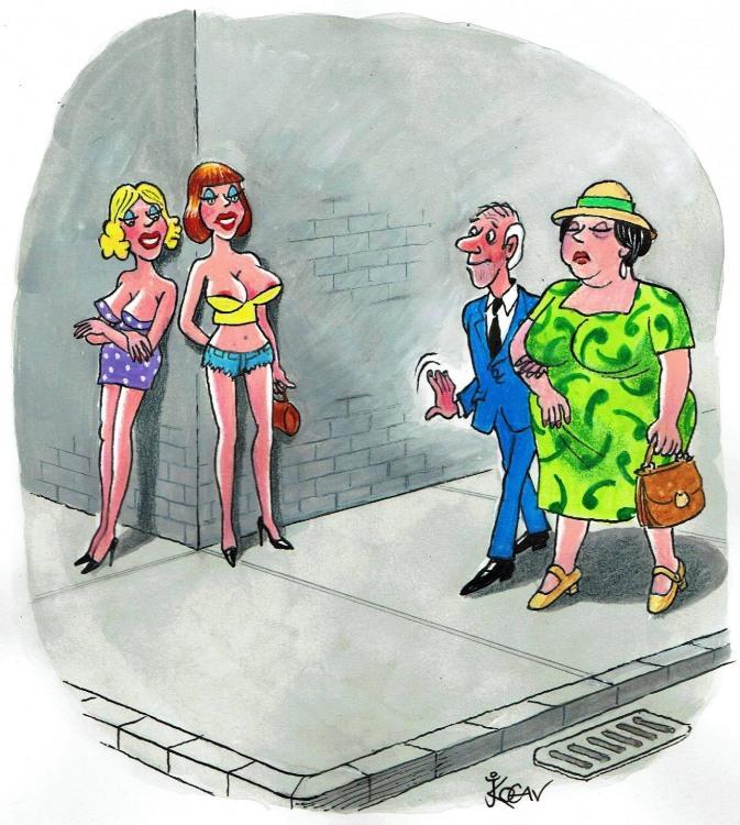 Малюнок  про повій, жіночі груди вульгарний