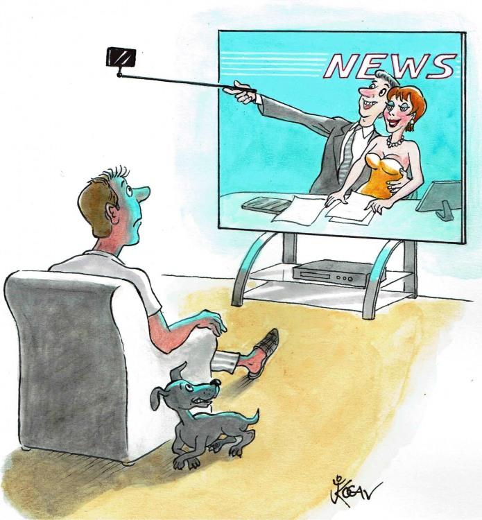Малюнок  про селфі та новини
