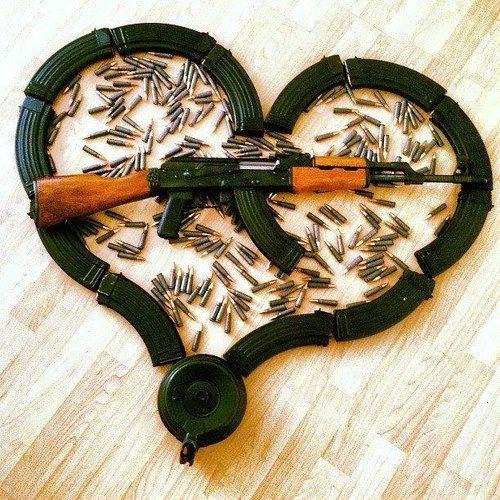 Фото прикол  про зброю та валентинку