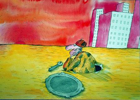 Малюнок  про сантехніків