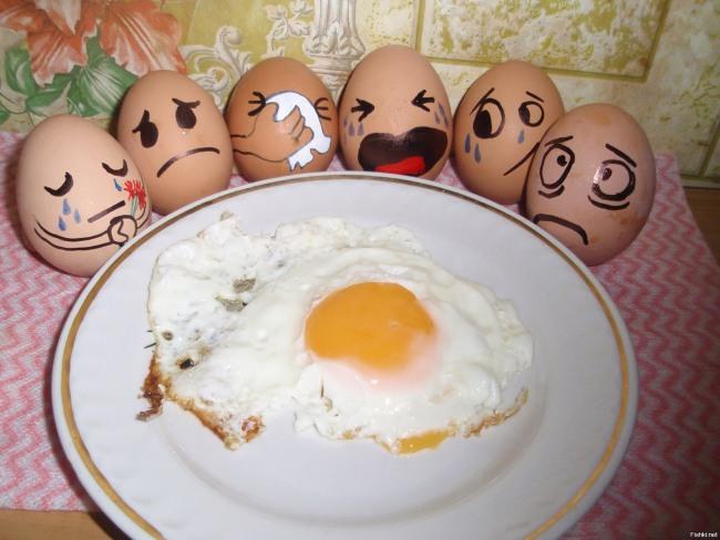 Фото прикол  про яйця
