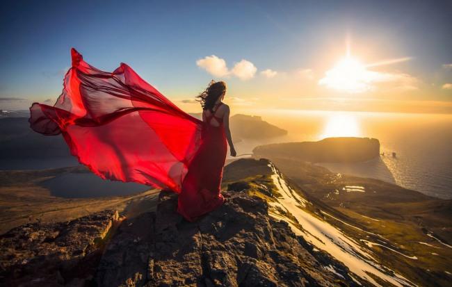 Фото прикол  про красу та захід сонця