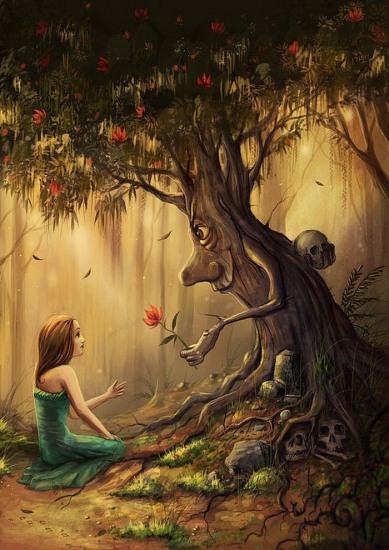 Малюнок  про дерево чорний