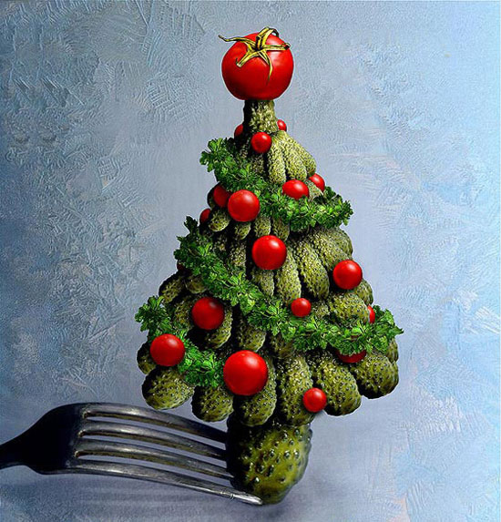 Фото прикол  про ялинку, огірки та новий рік