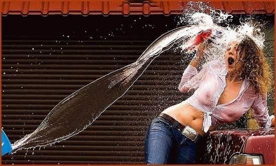 Фото прикол  про воду, дівчат вульгарний