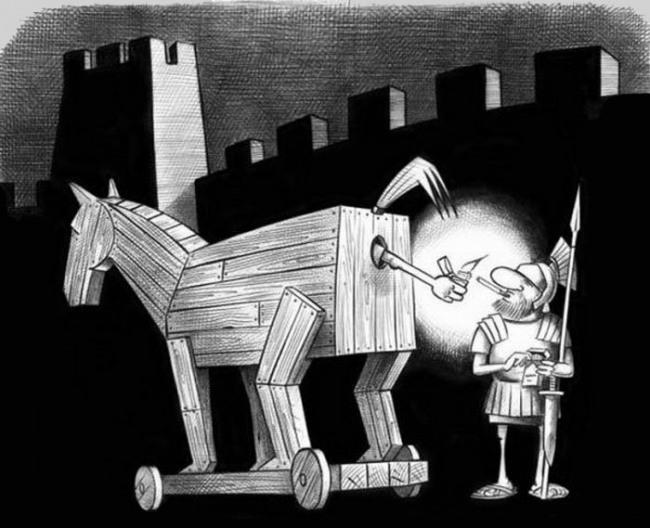 Малюнок  про троянського коня
