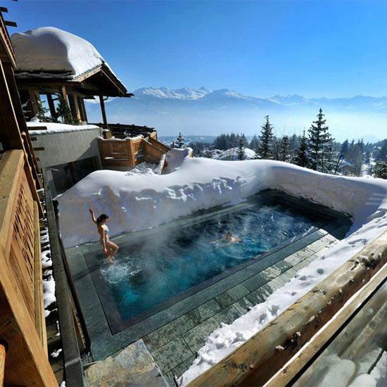 Фото прикол  про басейн та зиму