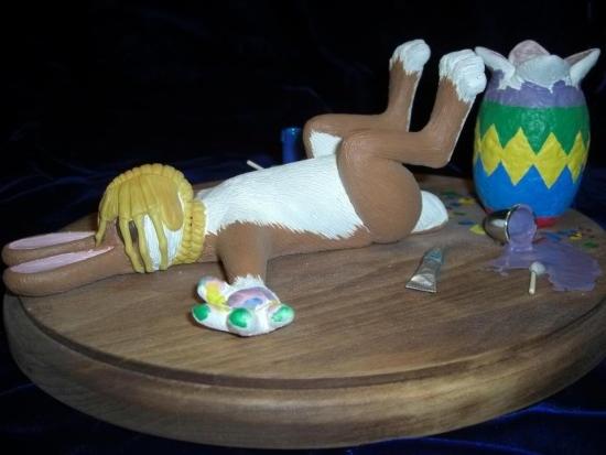 Фото прикол  про великдень, яйця чорний