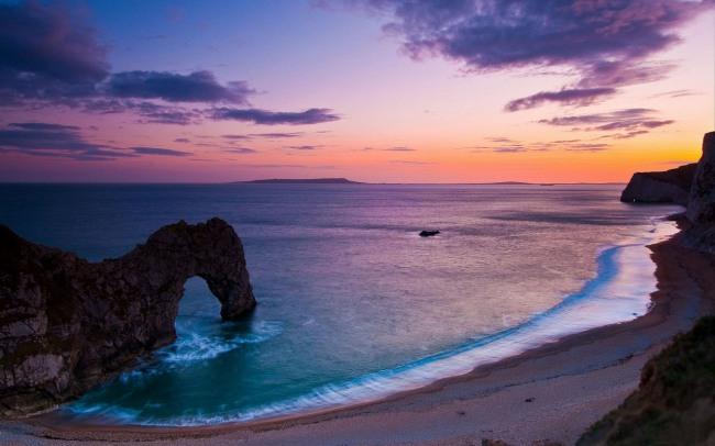 Фото прикол  про захід сонця та пляж
