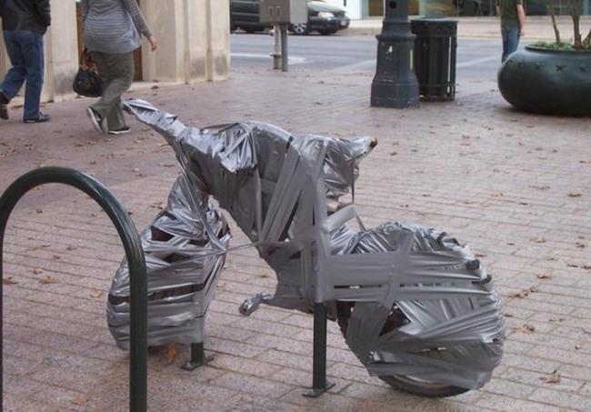 Фото прикол  про велосипед