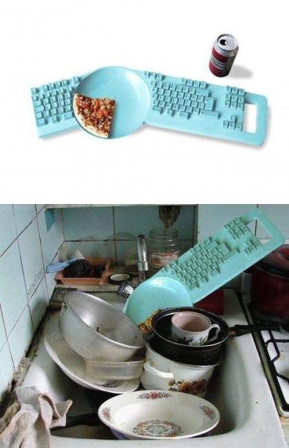 Фото прикол  про посуд та клавіатуру